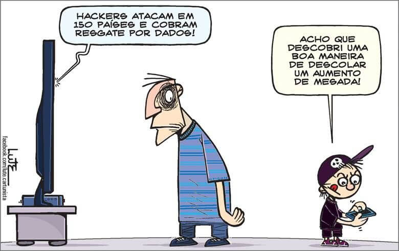 Charge: Lute (hojeemdia.com.br)