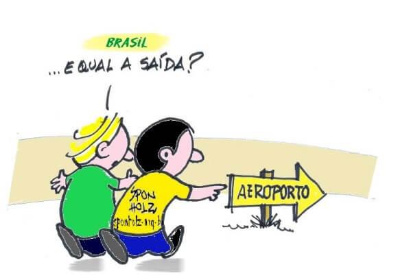 Charge: Humor Político - Roque Sponholz.