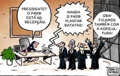 Charge: Presidencialismo de coalizão (ncpam.zip.net).