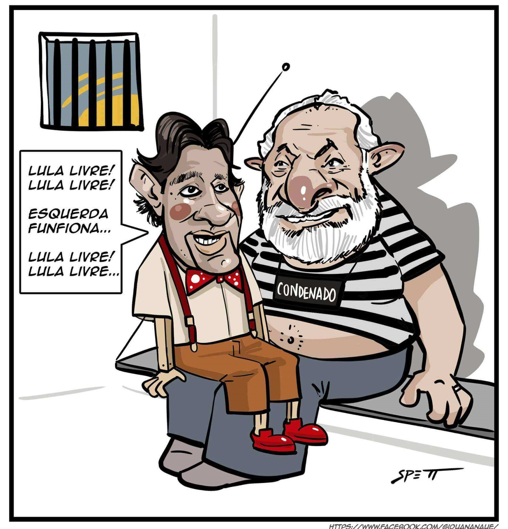 Charge do Leandro Spett