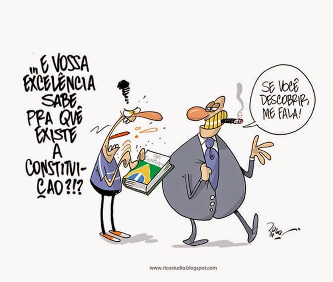 Charge do Rico (Jornal O Vale)