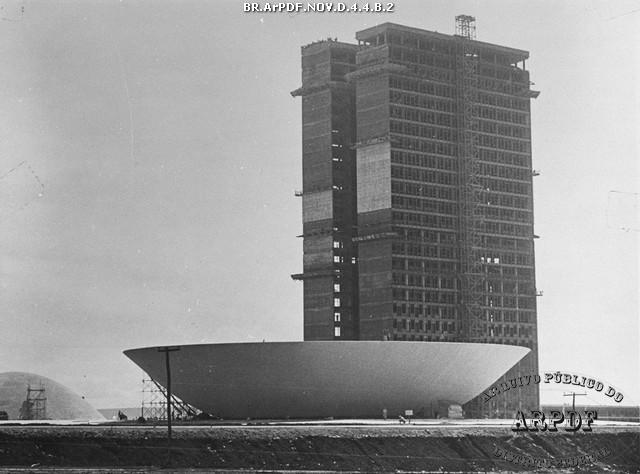 Congresso Nacional em construção - Arquivo Público do Distrito Federal