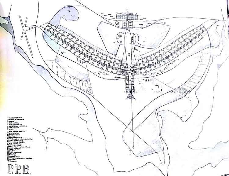 Desenho do Plano Piloto de Lucio Costa