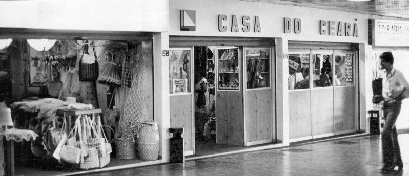 Lojas da Galeria dos Estados, em outubro de 1977