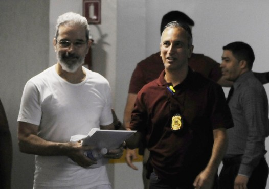 Luiz Estevão presta depoimento - benesses na Papuda