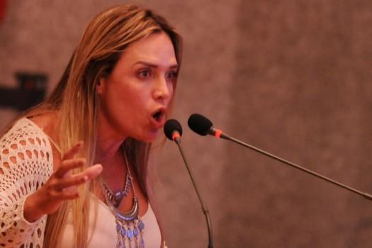 Celina Leão e distritais da Drácon discursam em plenário na Câmara Legislativa