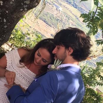 Liliane Roriz se casa em quinta de Portugal
