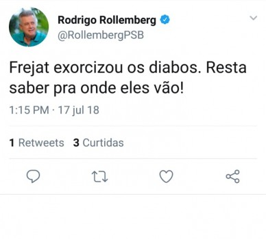 Rollemberg no Twitter