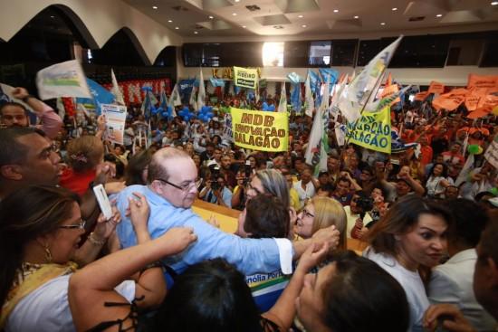 MDB oficializa candidatura de Ibaneis Rocha | Crédito: Paulo Pestana