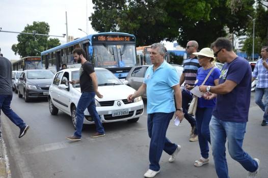 Fraga em caminhada em Taguatinga