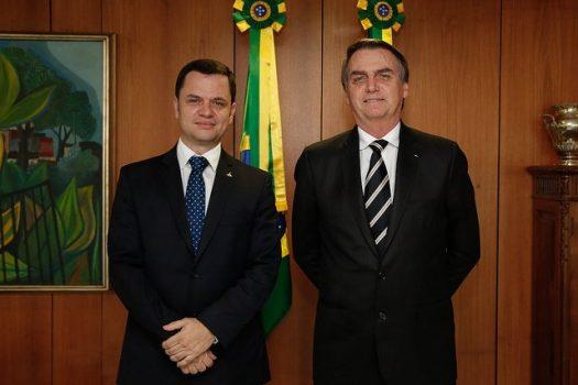 Bolsonaro e secretário de segurança