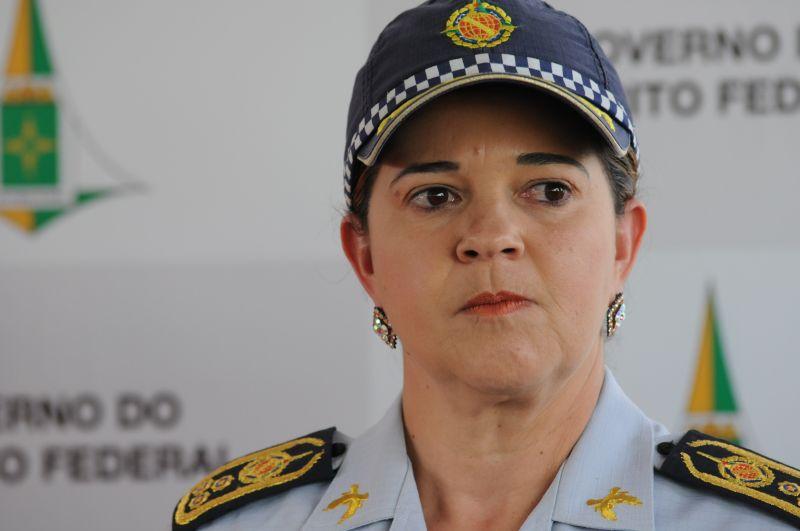 comandante-geral da PM, coronel Sheyla Sampaio