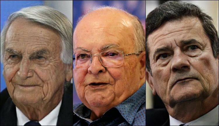 Bolsonaro, Ibaneis e Moro no aplicativo de envelhecimento