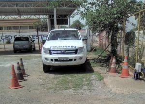 Carro do administrador da Estrutural, Major Gustavo Cunha Bolsonaro