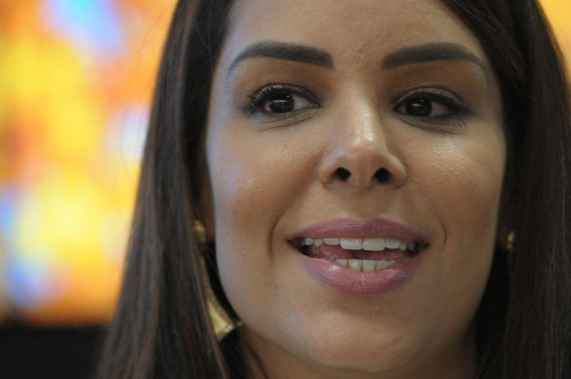 A primeira-dama do DF, Mayara Noronha