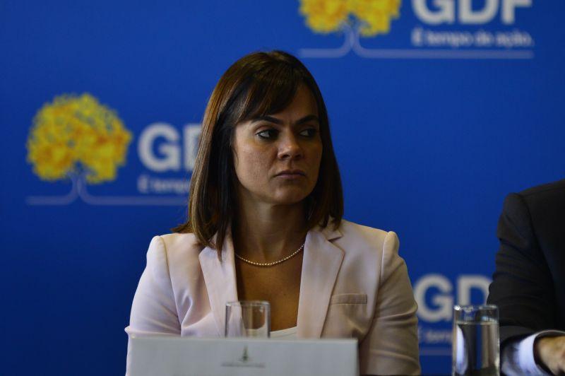 A chefe de gabinete do governador Ibaneis Rocha, Kaline Gonzaga, será transferida para uma diretoria da Terracap