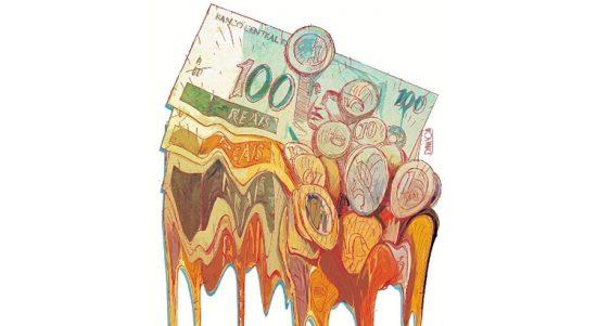 Crise dinheiro derretendo