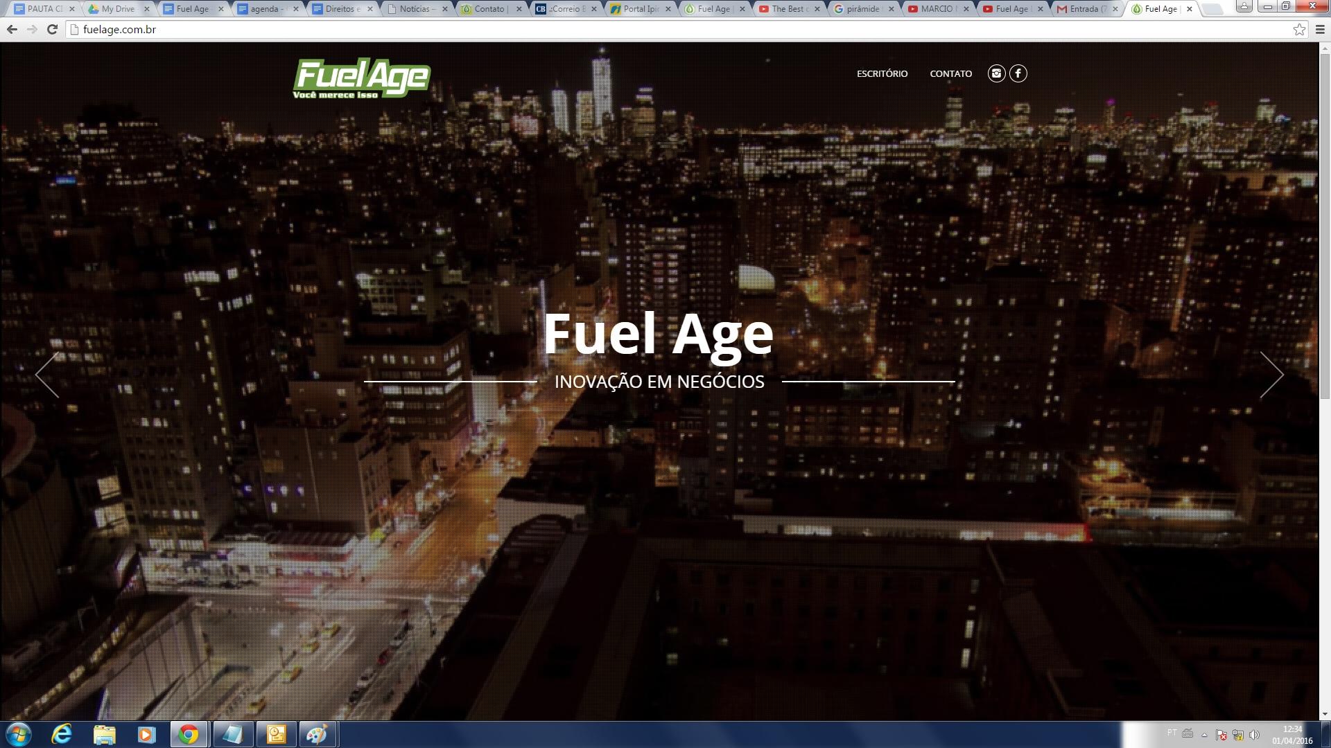 Página inicial Fuel Age