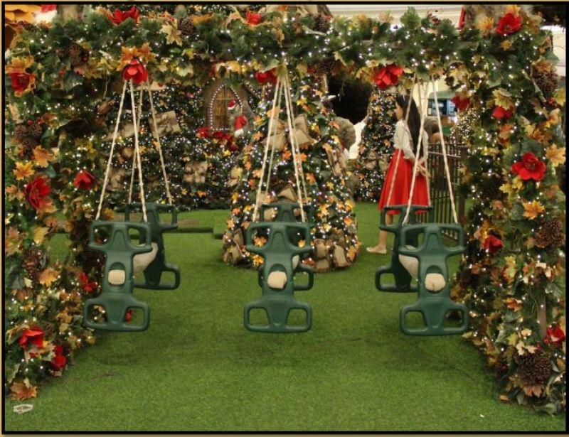 Decoração de Natal em shopping em Brasília