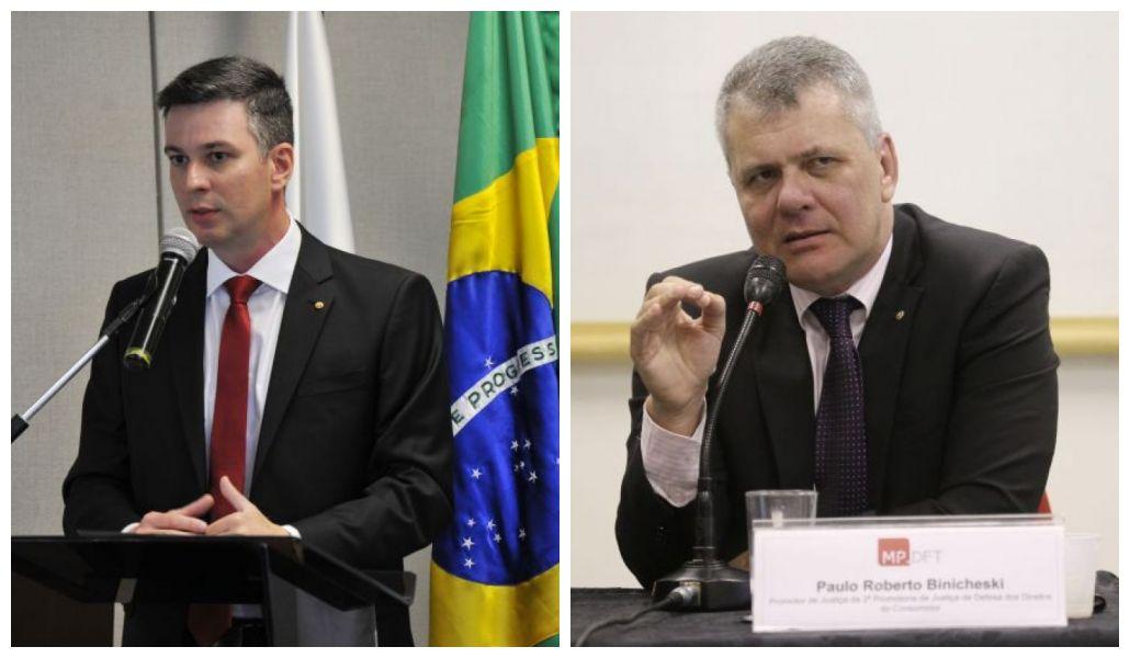 Paulo Roberto Binicheski e Frederico Meinberg Ceroy são dois dos promotores que integram o grupo pioneiro do Ministério Público. Foto: MPDFT