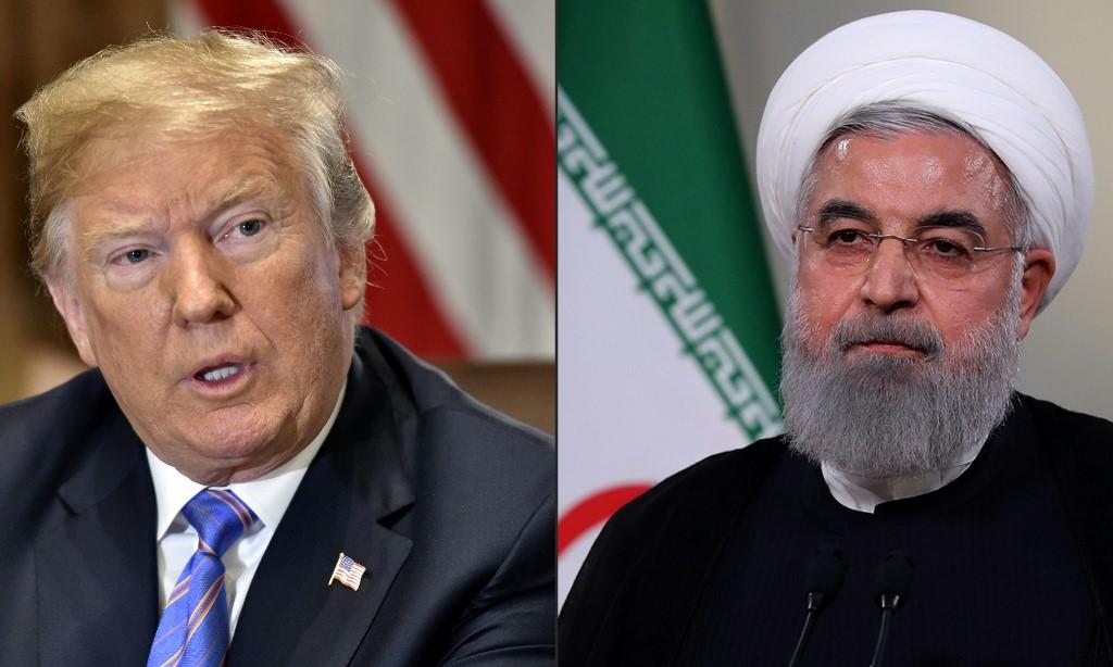 Presidente dos Estados Unidos, Donald Trump, e presidente do Irã