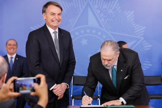 Bolsonaro e Augusto Aras
