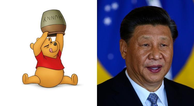 ursinho pooh e presidente chinês