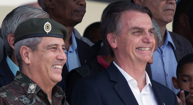 General Walter Souza Braga Netto e Bolsonaro