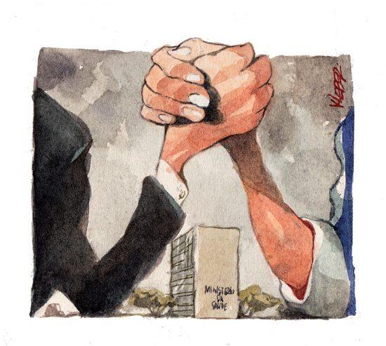 Queda de braço entre Mandetta e Bolsonaro