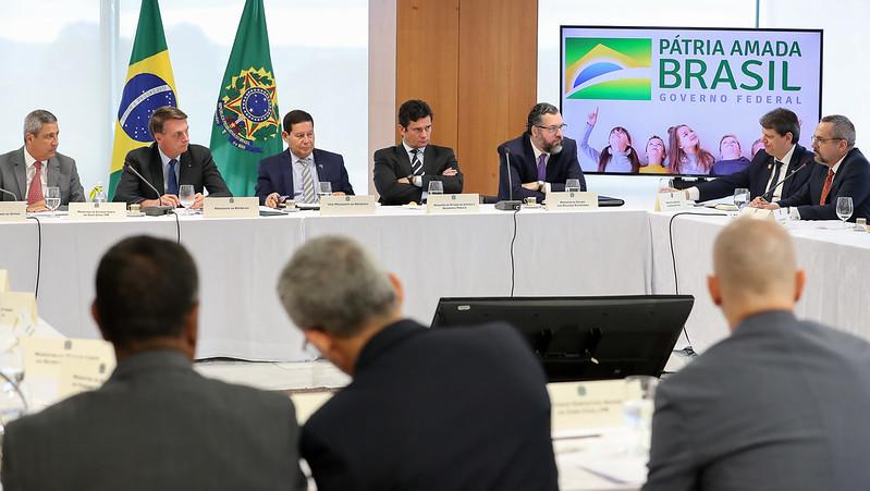 Reunião ministerial de Bolsonaro com ministros