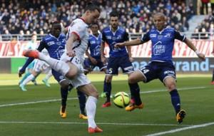 Ibra fez quatro dos nove gols do PSG sobre o Troyes. Imagem: PSG