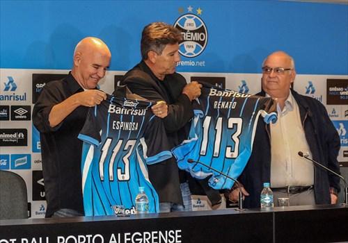 Espinosa e Renato: uma velha parceria a serviço do Grêmio