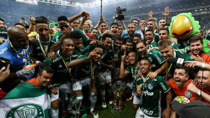 Campeão dos campeões: Palmeiras é o recordista de títulos brasileiros. Foto: Cesar Greco/Palmeiras