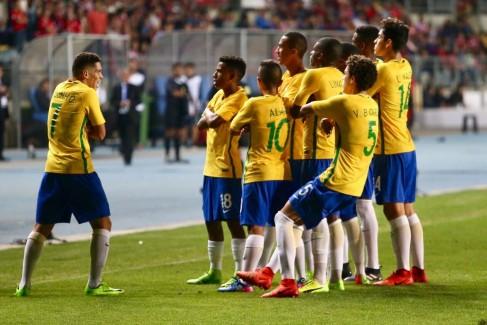 Molecada Sub-17 conquistou o Sul-Americano com 5 x 0 sobre o Chile. Foto: Gregório Fernandes/CBF