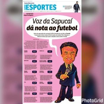Um bate-papo com Jorge Perlingeiro. Locutor das notas das escolas de samba do Rio fala de futebol