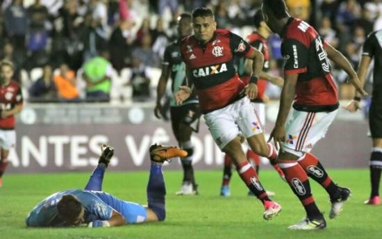 Gol de Everton encerrou 44 anos de jejum do Flamengo em São Januário. Foto: Gilvan de Souza/Flamengo
