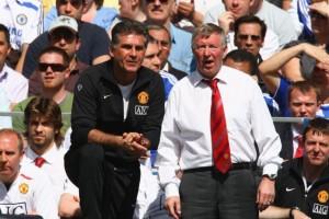 Carlos Queiroz e Alex Ferguson: auxiliar do escocês no Manchester United