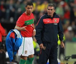 CR7 e Carlos Queiroz: parceria na seleção portuguesa e no Manchester United