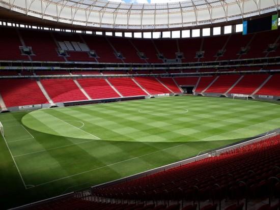 Mané Garrincha: gramado impecável não recebe jogo oficial desde 6 de maio deste ano