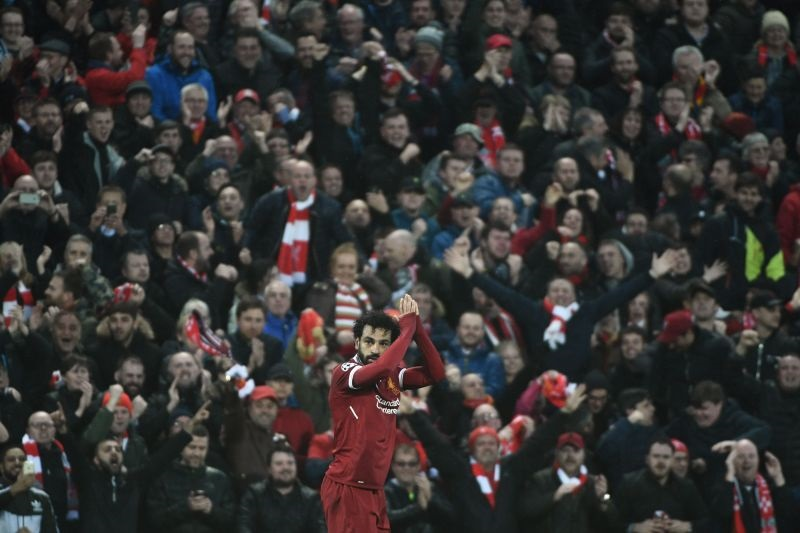 Mohamed Salah tem 43 gols na temporada. Filippo Monteforte/AFP