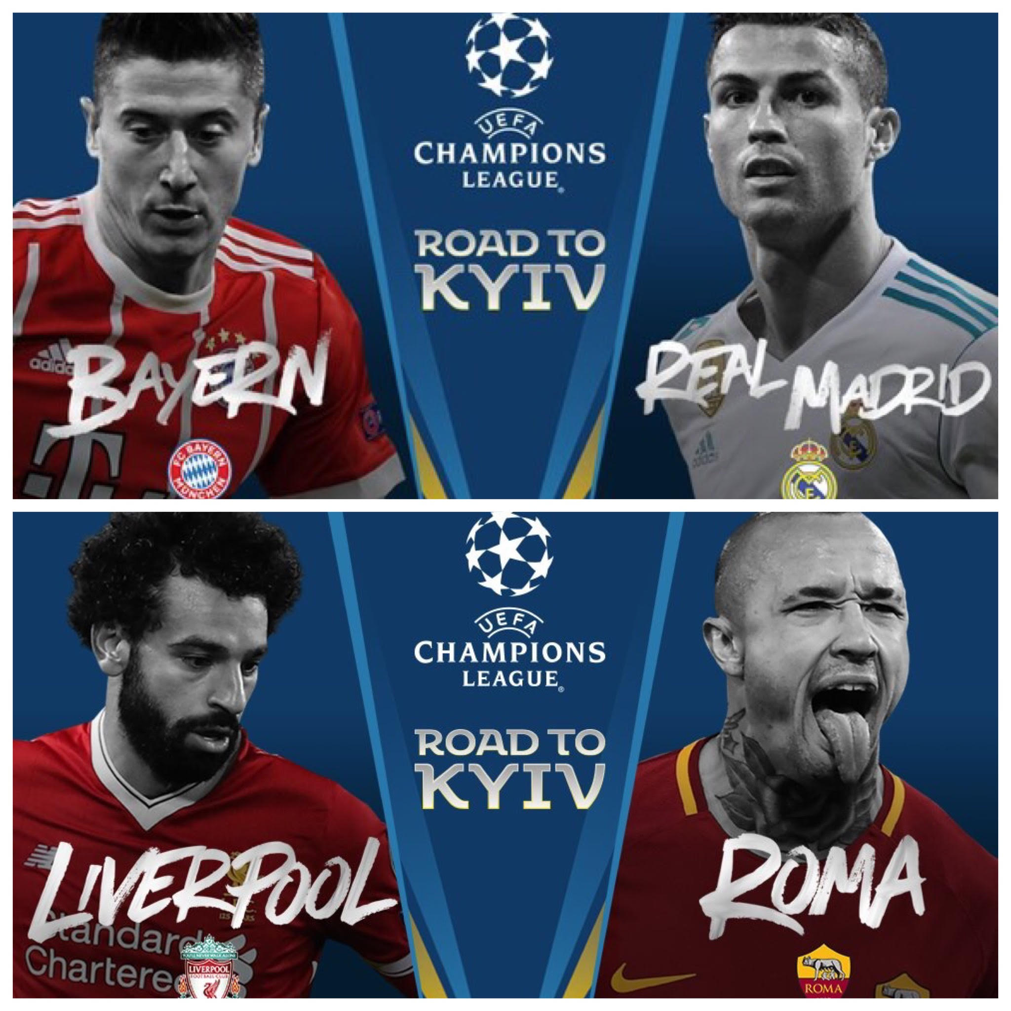 5bb08b00bc Guia das semifinais da Uefa Champions League 2017 2018