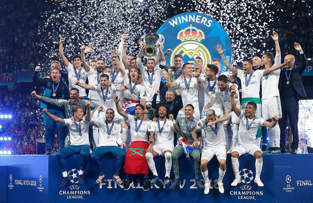 Real Madrid: tricampeão da Champions League. Foto: Real Madrid