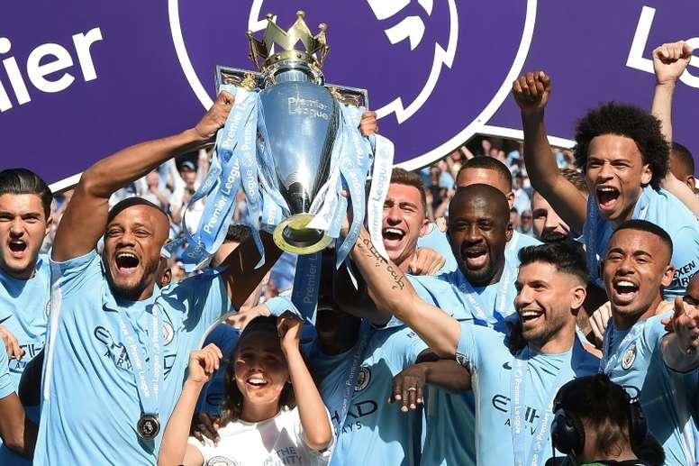 Depois de quebrar recordes em 2017/2018, o Manchester City defende o título. Foto: AFP