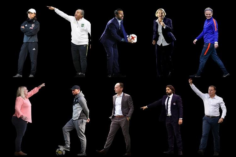 Os dez indicados ao prêmio de melhor técnico do futebol feminino 2018