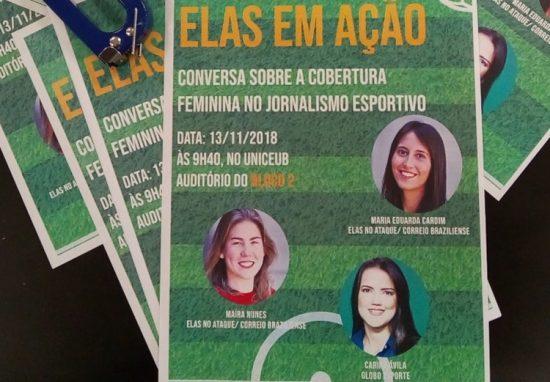 Elas em ação, conversa sobre a cobertura feminina no jornalismo esportivo