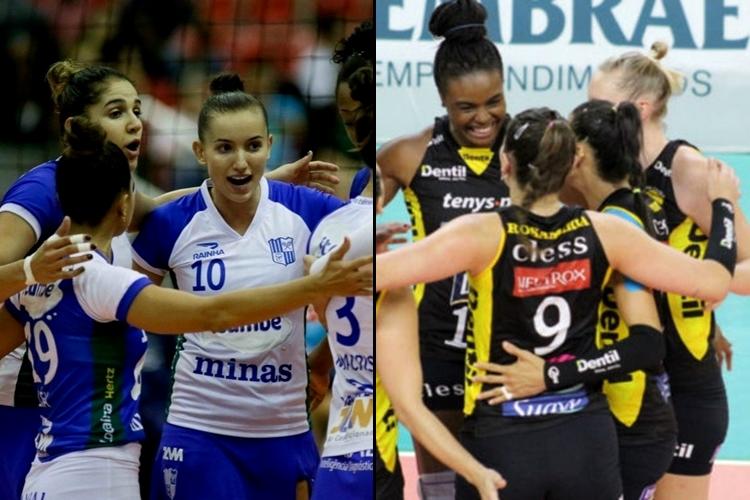 Minas e Praia Clube podem fazer a primeira final mineira da Superliga feminina de vôlei