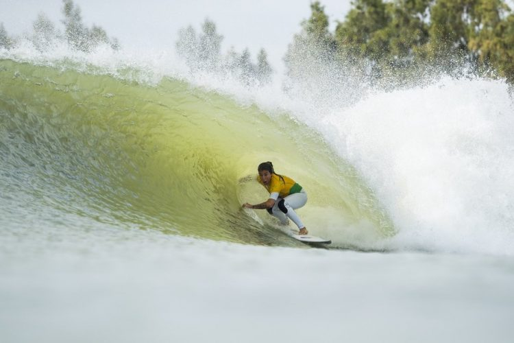 A surfista Silvana Lima na etapa de Bali da Liga Mundial de Sufe, WSL