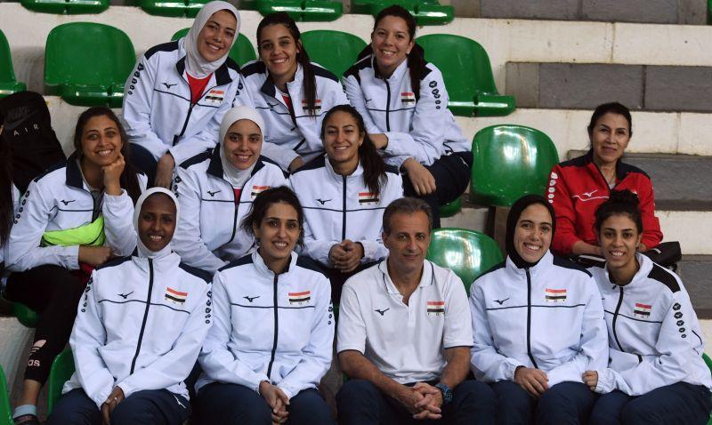O tecnico brasileiro Marco Antonio Queiroga comanda a seleção de vôlei feminina do Egito