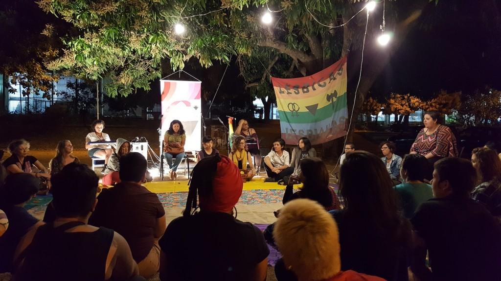 Virada Lésbica na UnB - Diretoria da Diversidade, em 28/08/2017. Foto: Sandra Machado