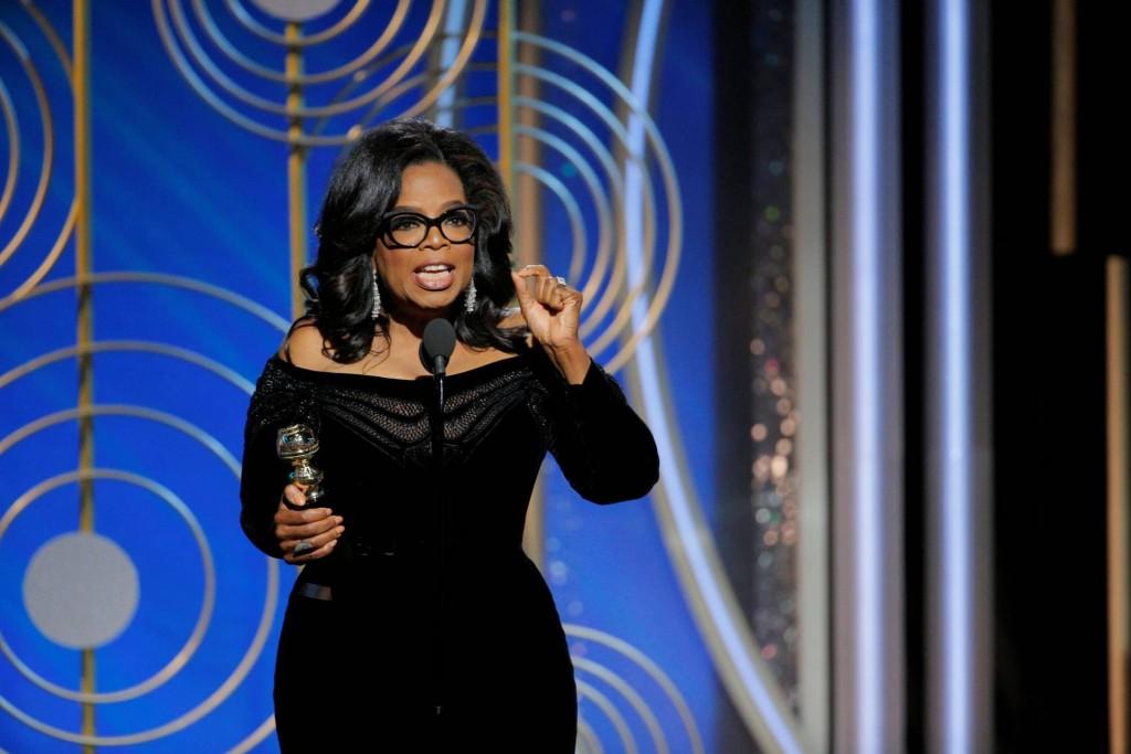 Oprah Winfrey faz discurso corajoso e original sobre assédios e racismo na premiação dos Golden Globes. Foto: Agencia REUTERS